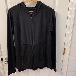 Black Athletic Zip-up